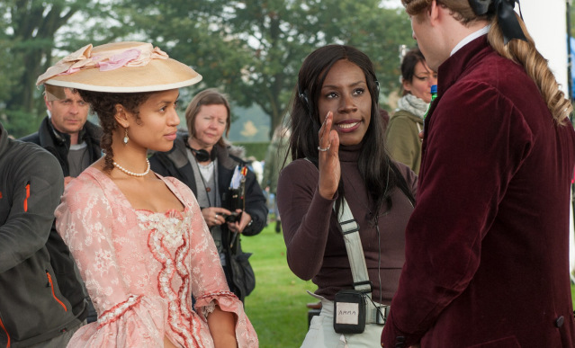 Amma Asante directing her actors on the set of 'Belle'